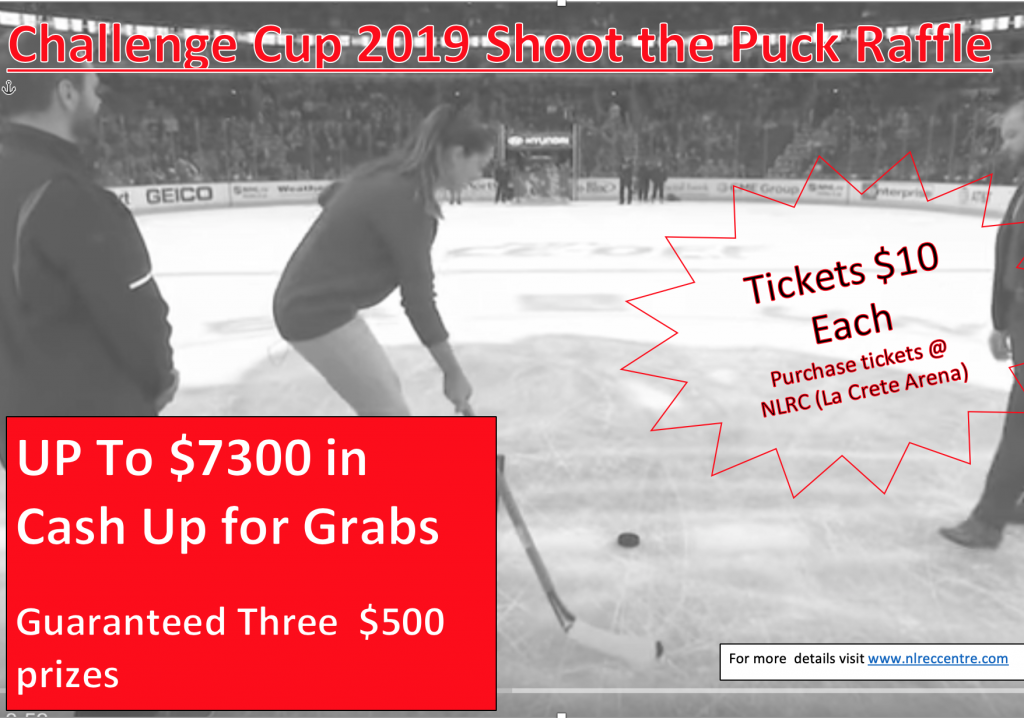 Challange Cup shoot the puck raffle 2019