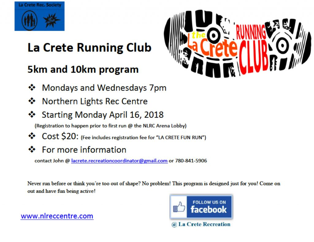 2018 La Crete Running Club LS AD