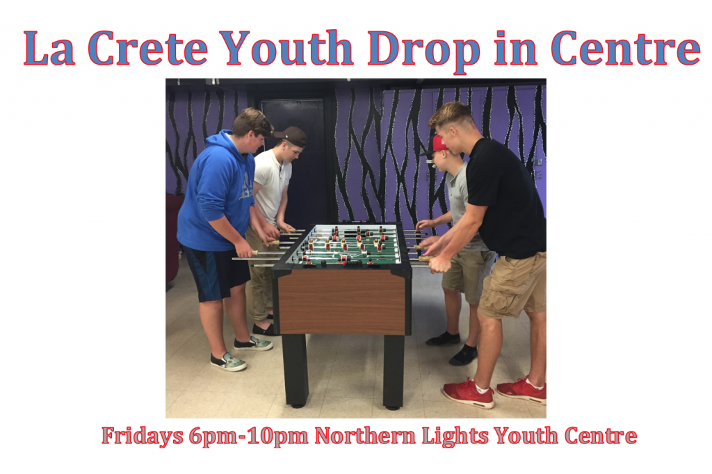 Youth drop in centre fall 2017