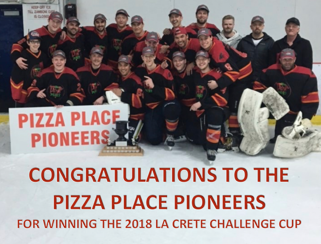 congrats to Pizza Place 2018 Ccup