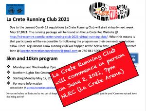 Start June 2, 2021 La Crete Running Club LS AD